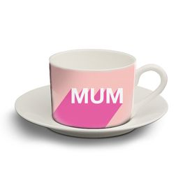 Personalised tea cup and saucer - a geat idea for Mother's day gift