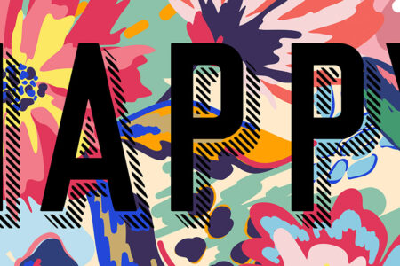 Happy - modern art prints on Artwow