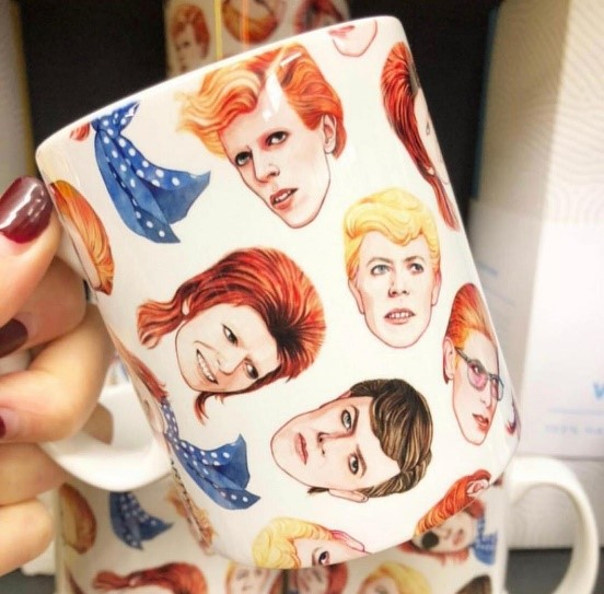 David Bowie - custom print on mug