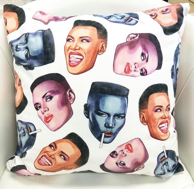Grace faces - quirky cushions