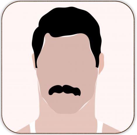 Freddie Mercury - personalised drink coasters