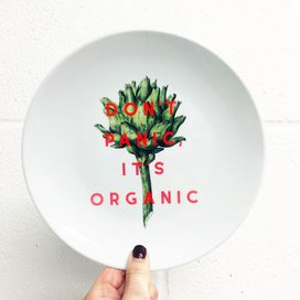 Unique designer dinner plates - a perfect Mother's day gift