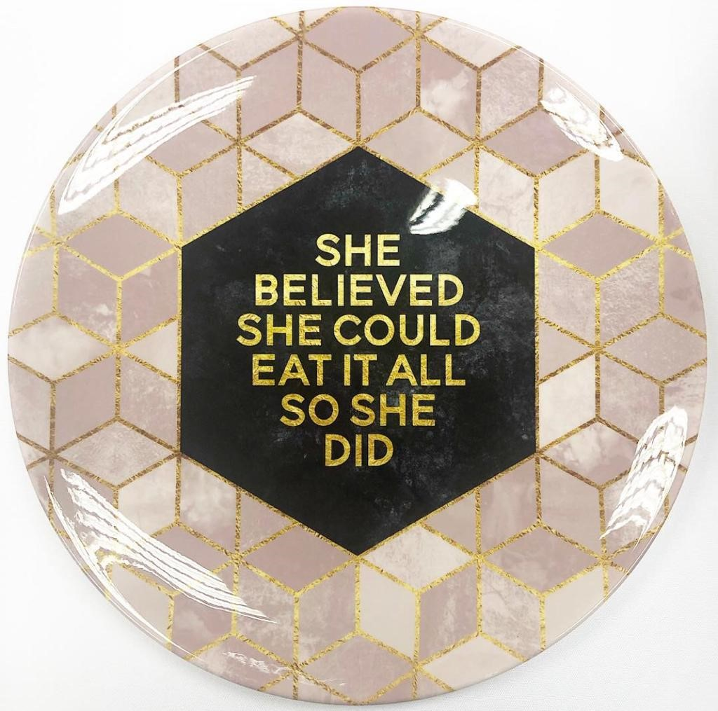 She Believed She Could by Elisabeth Fredriksson – customised plates on ArtWOW