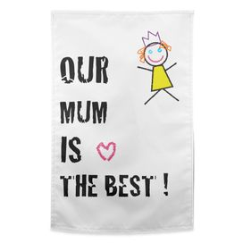 Design own tea towel and make a unique Mother's day gift (from baby)