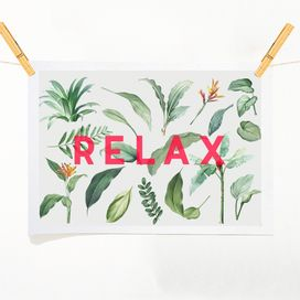 Positive prints on ArtWOW: Relax