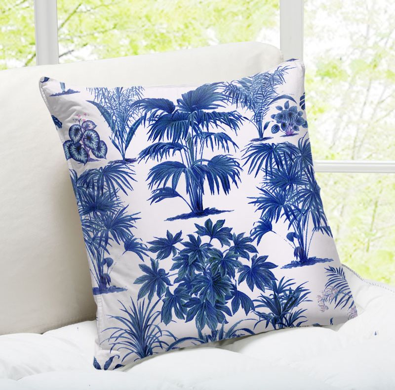 Wallace Elizabeth designer: Palm Willow – buy personalised cushions on ArtWOW