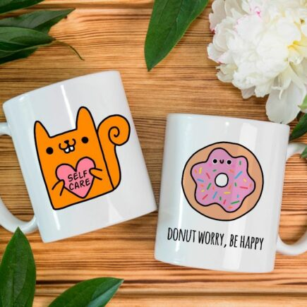Unique cool cofee mugs: Don't worry be happy