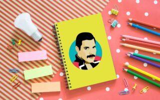 Freddie Mercury - designed notebook by Sabi Koz