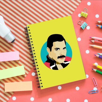 Freddie Mercury - designed notebook by Sabi Koz