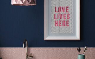 Love lives here - Original art print
