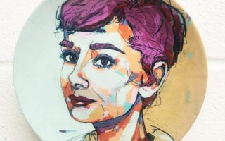 Audrey Hepburn - personalised dinner plate
