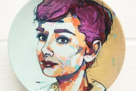 Audrey Hepburn - personalised dinner plate