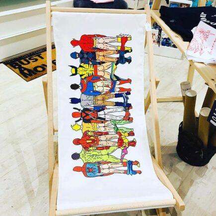 Unique canvas deck chair