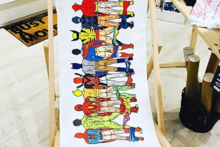 Unique canvas deck chair