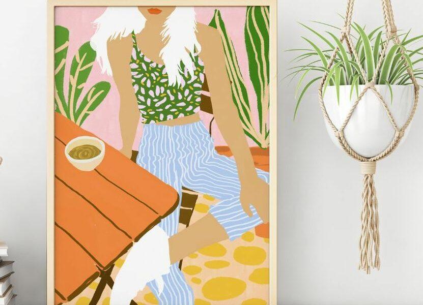 Garden Song - original art print by ArtWow