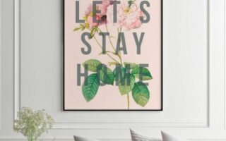 Original art print: Let's stay home