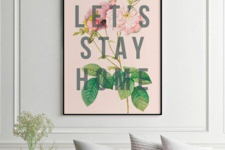 Original art print: Let's stay home