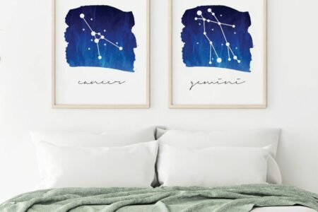 Virgo zodiac constellation - original print by Toni Scott