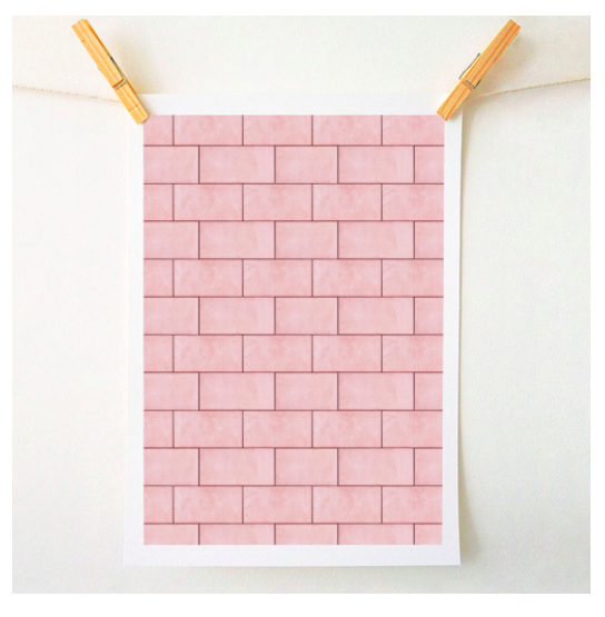 Blush brick imperfection by Uma Prabhakar Gokhale on Artwow