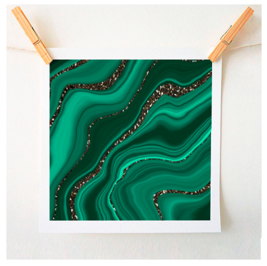 Liquid malachite glitter on Artwow.co