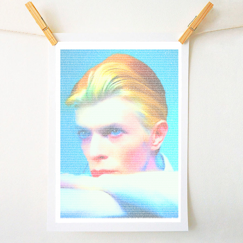 The man who fell to Earth - cool art prints created by Roboticewe for ART WOW