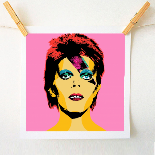 David Bowie - positive art print created by Wallace Elizabeth