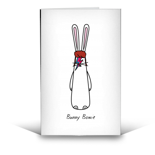 Bunny Bowie - creative birthday card designed by Hoppy Bunnies for ART WOW