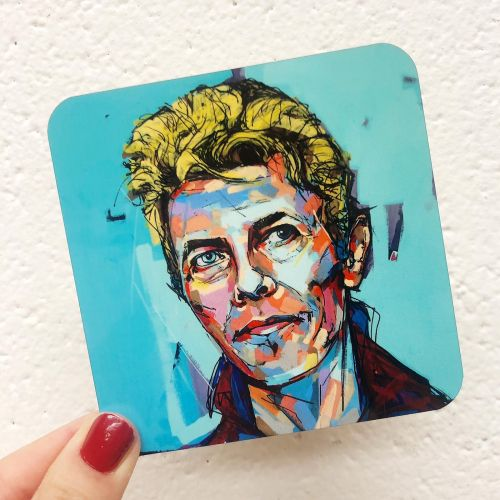 Hopeful Bowie - photo coasters from UK designed by Laura Selevos for ART WOW