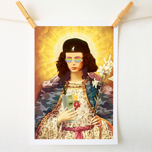 Patron Saint Of Fab: Edina - art prints designed by Wallace Elizabeth for Art Wow