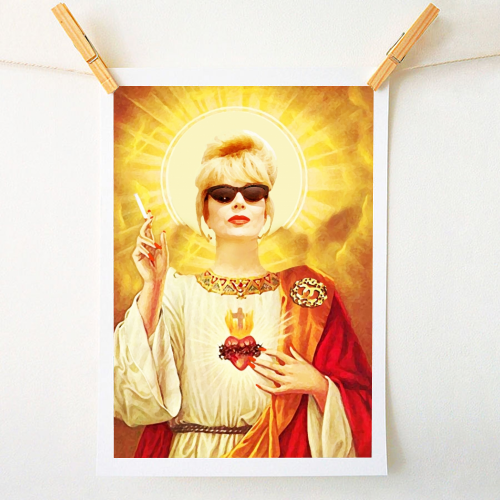 Patron Saint Of Fab: Patsy - personalised home prints designed by Wallace Elizabeth