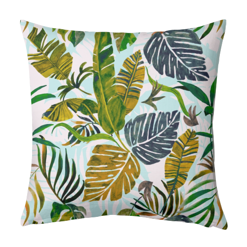 LEAVES OF THE JUNGLE - personalised photo pillow designed by ART WOW artist Mmarta BC