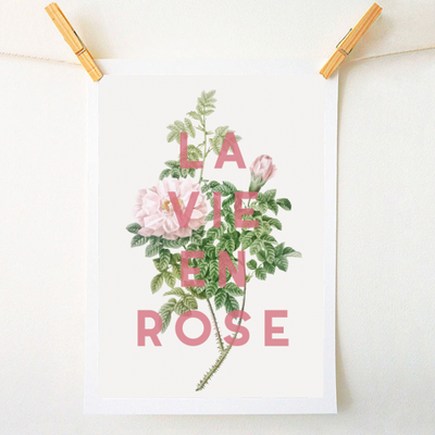 LA VIE EN ROSE - cool art prints by ART WOW designer The 13 Prints
