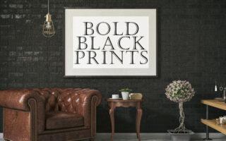 Black & white prints