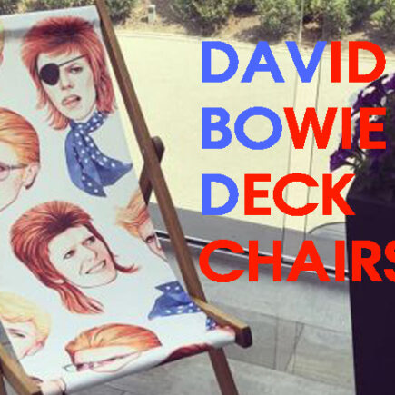 David Bowie canvas deck chairs