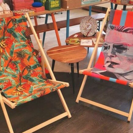canvas deck chairs on Artwow.co